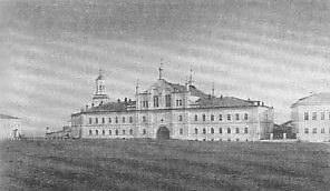 Преображенский монастырь - вид с Кафедральной площади /начало XX века/