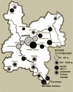 Время основания вятских городов